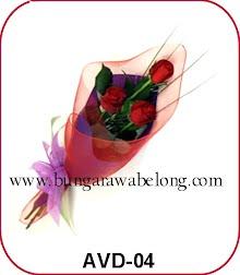 bunga valentine 3 tangkai