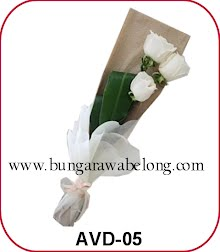 bunga valentine putih 2 tangkai