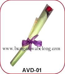 bunga valentine 1 tangkai