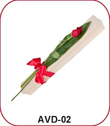 bunga valentine 1 tangkai dalam kotak